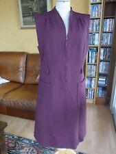ROBE VIOLETTE SYNTHETIQUE T42 VINTAGE 60/70 PURPLE DRESS size L