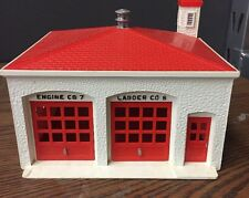 1950 Plasticville FIRE HOUSE FH-4 O scale train building fire station bachmann