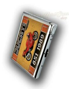 DUCATI 851 1989 MOTORCYCLE CIGARETTE CASE WITH BUILD IN LIGHTER