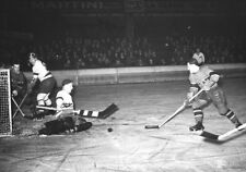 1938 NHL Game Action Montreal Canadiens vs Detroit Red Wings 8 X 10 Photo Pic