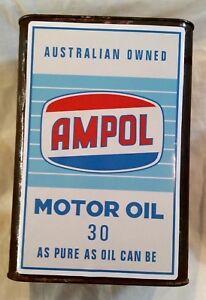 AMPOL MOTOR OIL CAN Sticker Decal Garage Service Station Retro Petrol