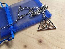 Colgante y Collar Harry Potter Reliquias de la Muerte PLATA NUEVO!!