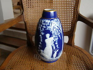 RARE GRAND VASE MARCEL CHAUFFRIASSE DECOR A L'ANTIQUE
