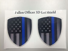 Motorcycle Suzuki Yamaha Honda Kawasaki Fallen Officer 3D Gel Shield Sticker set