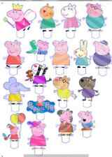 Peppa Pig Character Edible Image Cupcake Topper  Stand up Rice / Wafer Card #2