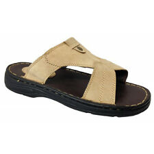 Mens Gents Leather Sandals Slip Ons Slippers Beach Home Flip Flops Mules Size