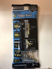 "Toggler Bb 1/4""- Heavy-Duty Wall Anchors w/Bolts 2 Pcs. Nip"