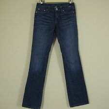 Banana Republic Juniors Tag Size 25 Distressed Wiskered Blue Denim Jeans
