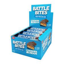 Morsi di battaglia barrette proteiche Confezione da 12 a basso contenuto di carboidrati & ZUCCHERO morbida al forno biscotti e crema