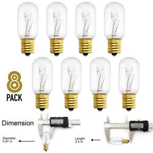 8-Pack Light Bulbs Microwave Oven 40W Appliance High Temp Resistance T8 Tubular