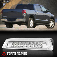 Fits 2007-2018 Toyota Tundra [Chrome/Clear] LED Third 3rd Brake Light+Cargo Lamp