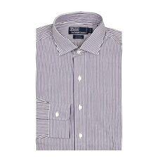 Polo Ralph Lauren Dress Shirt 15 1/2 33 Mens Estate Purple White Stripe NWT