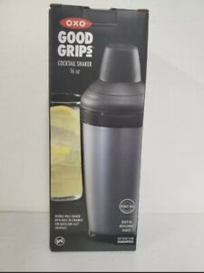 OXO Good Grips Cocktail Shaker Mixer With Strainer & Jigger Measuring Cup,16 Oz