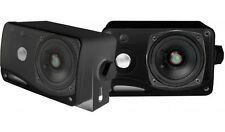 """NEW (2) 3.5"""" Enclosed Box Speakers.Outdoor Maine Boat ATV Stereo Sound.Pair.4ohm"""