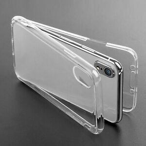 For Apple iPhone XR XS MAX XS  Body 360° Silicone Clear Case Cover Front Back