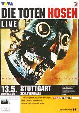 Original Konzertplakat  Die Toten Hosen 2000   Stuttgart Schleyerhalle