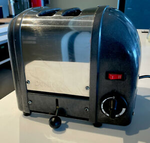 Dualit Classic Dark Grey Two Slice Toaster Good Condition.