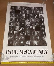 PAUL McCARTNEY ORIGINAL POSTER - 6 MINUTES IN MILAN (ITALY) COLLAGE 1989