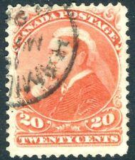 Canada - 1893 20 C VERMIGLIO SG 115 BELLE USATO V19487