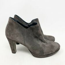 Paul Green 'Jazzy' Gray Suede Bootie Heel Size 7.5 US 5 UK Womens
