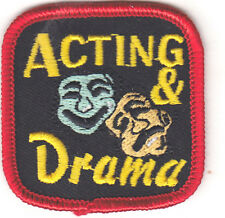 """""""ACTING & DRAMA"""" IRON ON PATCH - THEATER - STAGE - SCREEN - ACTOR - ACTRESS"""