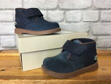 LACOSTE INFANT BOYS UK 5 EU 29 NAVY SHERBROOK SUEDE TODDLER BOOTS RRP £65