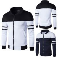 New Men's Winter Slim Hoodies Warm Zipper Jacket Hooded Sweatshirts Coat Outwear