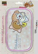 Rilakkuma Soft Pouch Case Pink for New Nintendo 3DS LL XL #1036 F/S