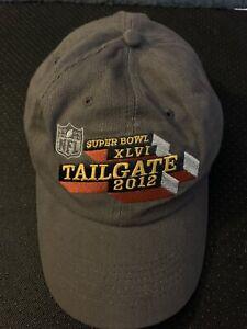SUPER BOWL XLVI HAT 2012 TAILGATE NY GIANTS ELI MANNING NFL FOOTBALL CAP