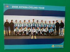 CYCLISME carte  équipe cycliste ASTANA 2008