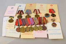 14 Original Orden Medaille Konvolut Urkunde auf eine Name