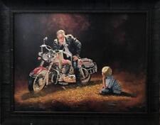 Dave Barnhouse When I grow Up Motorcycle Boy Art Print-Framed