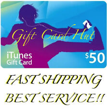 $50 US iTUNES CARD gift voucher certificate Apple USA USD iTune 100% Super Fast