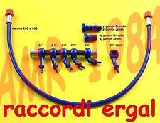 KIT TUBO FRENO SPECIALE BLU RACCORDI ERGAL  ROSSO  Lunghezza da 250 a 750
