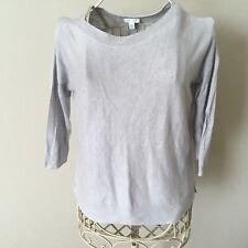 J.Jill Metallic Grey Linen Blend 3/4 Sleeve Sweater - Size XS Petite - EUC