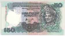 RM50 DON BR FIRST PREFIX B A BANKNOTE @ UNC
