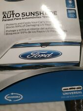 "Plasticolor Ford Logo Foldable Front Windshield Auto Sunshade 27.5"" x 58"""