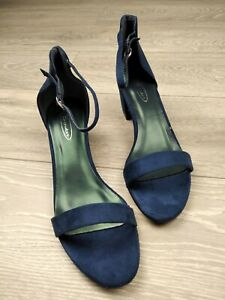 WOMENS LADIES LOW MID BLOCK HEEL ANKLE STRAP BUCKLE PARTY SANDALS SIZE UK 8