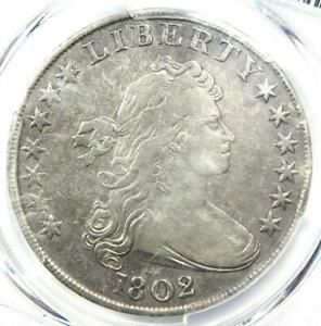 1802 Draped Bust Silver Dollar $1 Coin - Certified PCGS VF Detail - Rare Date!
