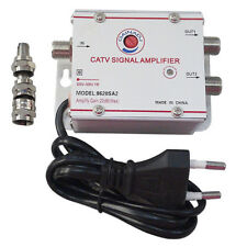Amplificatore Segnale Antenna TV Digitale terrestre via cavo 2 USCITE  20dB