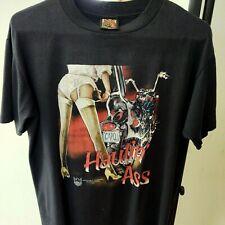 New listing Vintage '90s 3D Emblem Hauling Ass Rebel Rider Black men's lge T-shirt Usa 1994