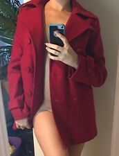 Ny&co Red Bright Peacoat Coat Winter Sexy New York & Company Business