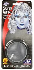 Silver Metallic Make Up Costume Body Art Foundation Grease Base Pod Makeup