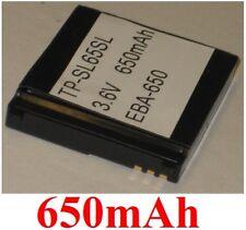 Batteria 650mAh tipo V30145-K1310-X299 EBA-650 EBA-730 per SIEMENS SL65 SL75