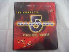 The Complete Babylon 5 Trading Card Binder and Base set