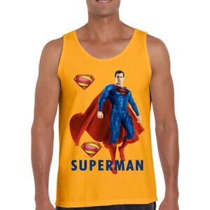 NEW SUPERMAN SUPERHERO LOGO COMICS MEN'S TANK TOP SIZE S M L XL