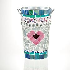 Mosaic French Vase - Sea Glass, Italian Tiles, Pink, Blue, Green, Teal, Lavender