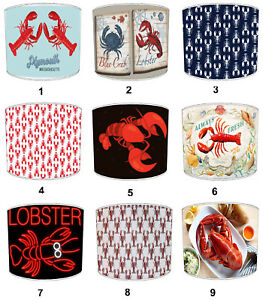 Lobster Design Lampshade Ideal To Match Bedding Duvets Curtains Cushion Covers