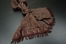 VALENTINO Scarf CASHMERE BLENED Raw Fringe Excellent Condition Beautiful