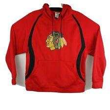 NHL Mens Chicago Blackhawks Hoodie Size XL Sweatshirt Red Black Pullover